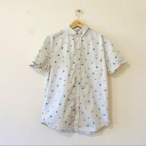 Sovereign Code casual button down shirt avocado M